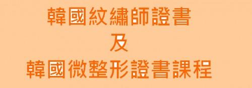 韓國紋綉師證書及韓國微整形證書課程